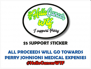 hello cancer wtf sticker