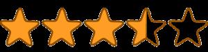 3 and half stars