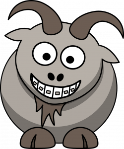 goat with braces
